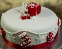 Image result for christmas cake designs easy