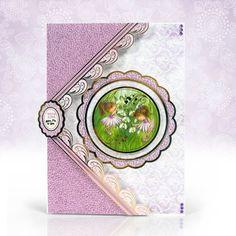 Lavender Dreams created from Hunkydory Crafts' Garden Secrets - The Secret Garden Kanban Cards, Handmade Birthday Cards, Handmade Cards, Hunkydory Crafts, Hunky Dory, Paper Crafts, Card Crafts, Different Flowers, Heartfelt Creations