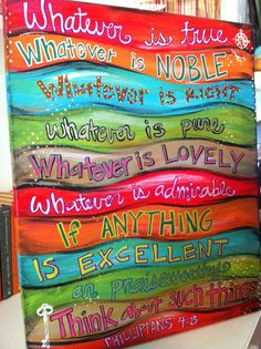 philippians 4:8 I would love to try my hand at making this. So beautiful!