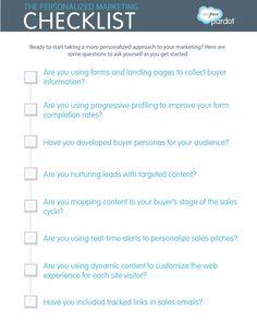 Pre-Event #Marketing Checklist - Marketers, use this checklist to ...