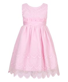 Love this Pink Scalloped Party Princess Dress - Toddler & Girls by Richie House on #zulily! #zulilyfinds