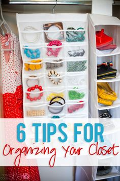 6 Tips for Organizing Your Closet. I want that hanging organizer to store my jewelry Organize Your Life, Organizing Your Home, Organizing Tips, Organising, Creation Couture, Closet Organization, Organisation Ideas, Getting Organized, Homemaking