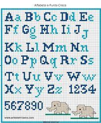 Resultado de imagen para abecedario en punto de cruz para hombre