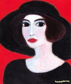 The American Widow(wears A Splendid Black Hat) Artwork by Kees Van Dongen