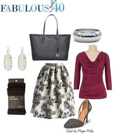 Voluminous tea length skirts have a very feminine, country club feel.