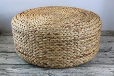 Rustic floor cushions/straw floor pouf/gift for moms/Pouf