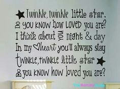Grandma Quotes Discover Childrens Nursery Wall Decal Sticker Twinkle Twinkle Little Star Cute Quotes, Great Quotes, Inspirational Quotes, Motivational, Nursery Wall Decals, Wall Decal Sticker, Star Nursery, Bedroom Wall, Kids Bedroom