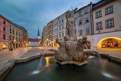 Neptune Fountain;  Neptunova kašna Olomouc, Czech Republic