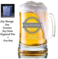 #Personalised #engraved beer pint glass #tankard 40th 50th 60th birthday gift box,  View more on the LINK: http://www.zeppy.io/product/gb/2/301746296233/