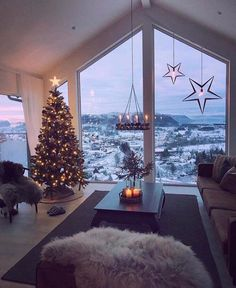 cozy christmas home decor for winter - christmas decoration ideas - home decor - interior design for the winter - cozy living room - living room inspiration Christmas Mood, Christmas Lights, Vintage Christmas, Christmas Scenery, Christmas Landscape, Christmas Interiors, Christmas Ideas, Christmas Decorations For The Home Living Rooms, Norway Christmas