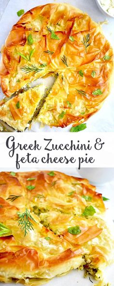 This healthy zucchini and feta pie is very simple and quick to make.