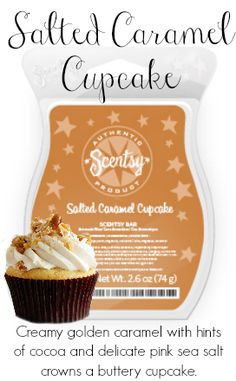 Salted Caramel Cupcake  $5.00 or 6 Bars for $25.00!!! www.scent-sationalrockies.com