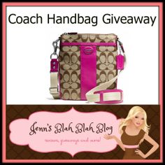 #Giveaway: Enter To #Win A Coach Signature Swingpack - Jenn's Blah Blah Blog - Travel, Recipes, Tech Talk, Giveaways and Sweepstakes, Produc...