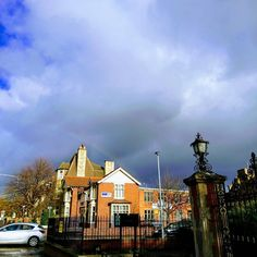 Moody skies over Peterborough today can you spot the Rainbow   #peterborough #blacksky #greysky #rainbow