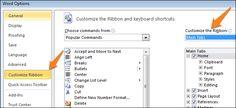 Business Process Management Customize Ribbon