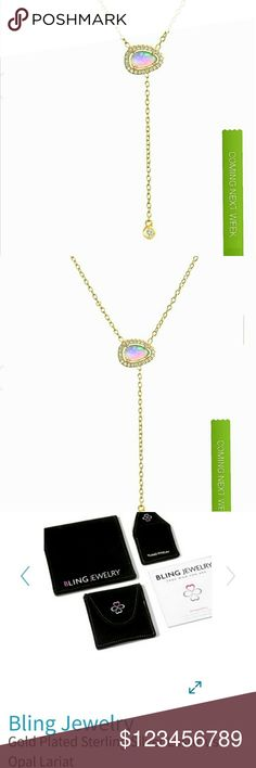 Opal Lariat Necklace by Bling Jewelry Coming next week beautiful opal lariat necklace by bling jewelry you will find it in my fine jewelry listings for a phenomenal deal check back next week get your likes and bundles in now so I know who to send private offers to thank you for browsing my closet / Boutique I appreciate everyone's business I have received so far and have maintained a five-star business thank you for helping me grow and most importantly survive I will price drop when…