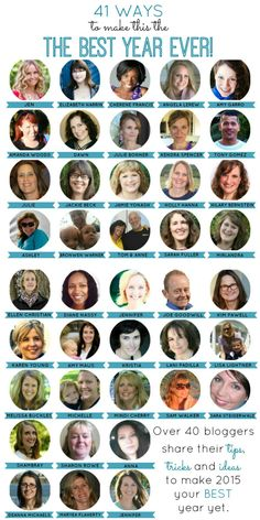 Best Year Ever Collaboration: 41 bloggers have gotten together to give you their tips on how to make this your best year ever.