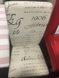 How to transfer personal letter to fabric for upholstery