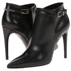 Pre-owned Burberry Woolwell Pointy Toe Ankle Black Boots