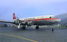 Swissair DC-6B HB-IBZ im Format 16:9