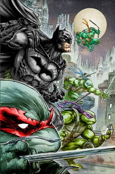 Batman and Teenage Mutant Ninja Turtles Crossover Announced | Comicbook.com