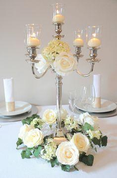 Pin von hochzeitsdekoration auf kerzenst nder mieten pinterest - Kerzenstander dekorieren ...