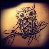 cute owl tattoo -