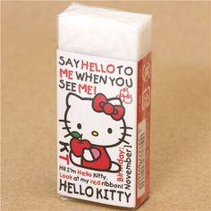 kawaii Hello Kitty eraser from Japan with apple 1