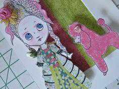 Original Paper Doll Art - Big Eyed Marie Antoinette Mixed Media Pop Art Assemblage - Antoinette #2