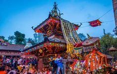 Bisket Jatra festival is the annual celebration of of wrathful god Bhairav and goddess Bhadrakali. It is celebrated at the time of Nepalese new year in the Newari town of Bhaktapur.
