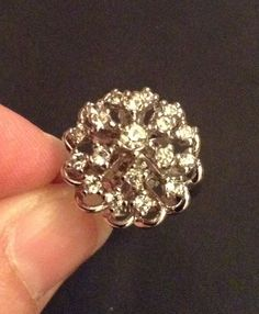 Cocktail Ring Art Deco Style Size 6 by EmbracetheEarth on Etsy, $16.00