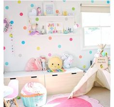 Trendy Bedroom Colors For Girls Playrooms 33 Ideas Baby Bedroom, Girls Bedroom, Bedroom Ideas, Kid Bedrooms, White Bedroom, Nursery Ideas, Rainbow Room, Little Girl Rooms, Little Girls Room Decorating Ideas Toddler
