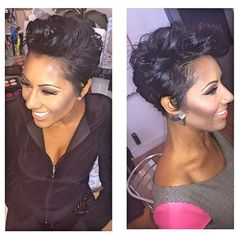 STYLIST FEATURE| Love this #pixiecut✂️ done by #PhillyStylist @michelle_nichole of @BounceDolls❤️ So pretty #VoiceOfHair