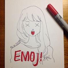 oh no | #mekaworks #drawing #emoji