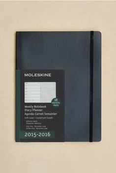 Moleskine - 2015-2016 18 Month Diary - Weekly Notebook - Extra Large (19x25cm) - Soft Cover - Black