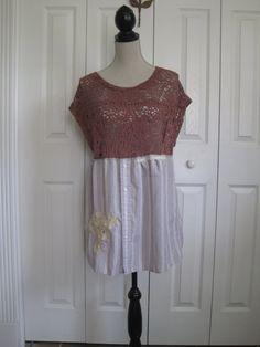 Rustic dress boho dress bohemian gypsy rustic by ShabyVintage, $46.00