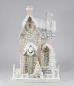 Pastel Bavarian House from TheHolidayBarn.com