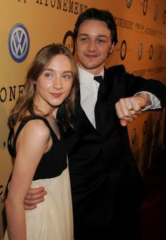 Saoirse Ronan and James McAvoy arrive at the premiere of Focus Features 'Atonement' at The Academy of Motion Picture Arts and Sciences on December 6...