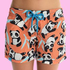 Giant Panda Beach Shorts