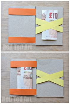 How to Make a Magic Wallet - Red Ted Art Magic Wallet – make the money or business card magically hop from one side to the other Learn Magic Tricks, Magic Tricks For Kids, Easy Crafts, Crafts For Kids, Arts And Crafts, Paper Crafts, Diy With Kids, Burp Cloth Patterns, Magic Crafts