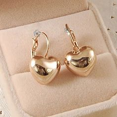 Free Shipping Italina Rigant Fashion Heart Austrian Crystal  Earring  Rose Gold Plated Jewelry Wholesale lovers Birthday gift