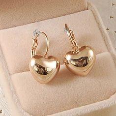 送料無料のitalina rigantファッションハートオーストリアクリスタルイヤリングローズゴールドカラージュエリー卸売愛好家の贈り物