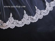 Cathedral Length Lace Mantilla Veil VG1002 by ieie on Etsy, $99.95