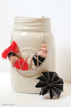 Lemon Jitters: Floss-Wrapped Necklace