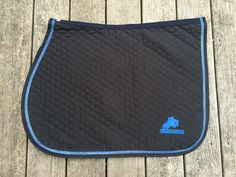 Custom English Saddle Pad with Bling Trim and Jumper Horse by thebarncloset on Etsy