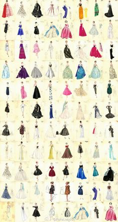 All Kinds of Skirts via duitang #Skirts #Illustration #duitang