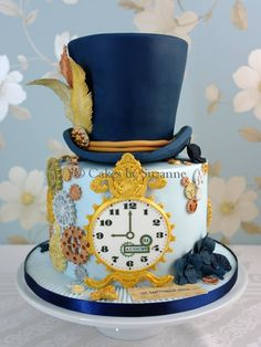 Fabulous steampunk cake using FPC moulds - www.fpcsugarcraft.co.uk