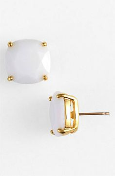 Kate Spade Stud Earrings -- I want these so badly. The navy too!!