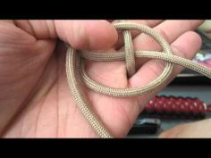 The easiest way to tie the ideal paracord stopper knot (two strand diamond knot)
