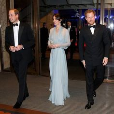 The Duke and Duchess of Cambridge and Prince Harry attend the Royal Film Performance 2015 - the World Premiere of the 24th James Bond adventure SPECTRE. The Royal Film Performance is held annually in aid of the Cinema and Television Benevolent Fund, and this year Shelterbox and Save the Children, two charities nominated by Their Royal Highnesses, will also benefit. via ✨ @padgram ✨(http://dl.padgram.com)